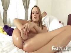 Blonde, Babe, Fisting, Exorcist spoof big tit babe sophie dee tied down, Drtuber
