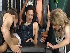 Foursome, Crossdresser, Dress, Old young foursome, Xhamster