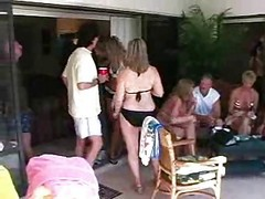 Pool, Party, Mature, Amateur pool party, Xhamster