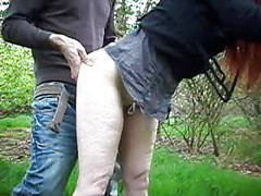 Dogging, Outdoor, Dude has two maids he fucks outdoors, Xhamster