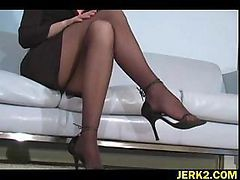 Office, Stockings, Opaque stockings, Drtuber