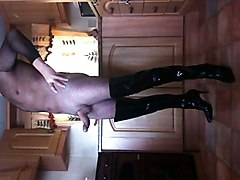 Boots, Leather skirt and boots, Xhamster