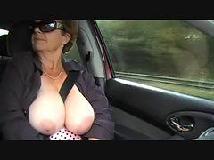 Granny, Outdoor, Czech outdoors, Xhamster