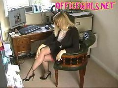 Black, Stockings, Secretary, Interracial stocking blonde, Gotporn