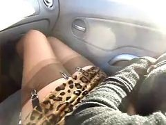 Car, Stockings, Bang bros car, Xhamster