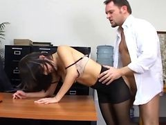 Bus, Panties, Office, Pantyhose, Office blackmail, Xhamster