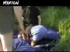 French, Gangbang, Outdoor, Vaginal creampie gangbang, Xhamster