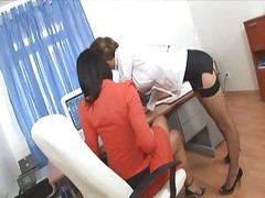 Office, Secretary, Threesome, Passionate office sex, Xhamster