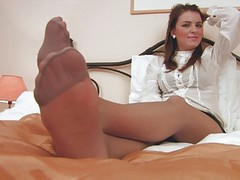 Feet, Nylon, German nylon handjob, Xhamster