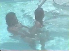Amateur, Pool, Couple, Pregnant bitch fucked in the swimming pool, Xhamster