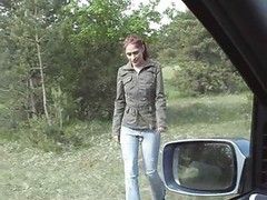 Car, Gagging, Blownjob in the car, Xhamster