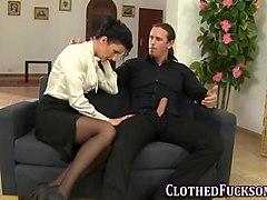 Clothed, Clothed man fucks a woman t, Gotporn