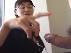 Asian, Handjob, Japanese, Secretary, Handjob in front, Xhamster