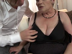 Granny, Granny hairy creampie doggystyle, Xhamster