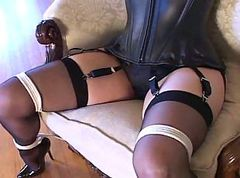 Bondage, Black, Heels, Pump, Pregnant stockings, Xhamster