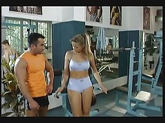 Gym, Japanese girl gives head in gym, Xhamster