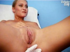 Doctor, Gyno, Blond mature on gyno chair, Xhamster