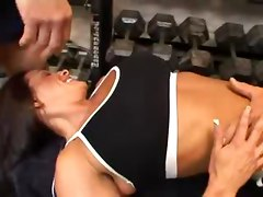 Gym, Threesome, Big natural tits in gym, Xhamster