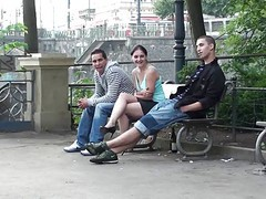 Public, Threesome, Outdoor, Pissing outdoor, Xhamster