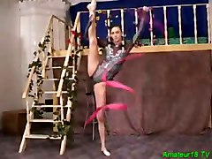 Flexible, Gym, Teen fuck hard in gym, Tube8