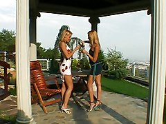 Lesbian, Outdoor, Groped outdoors, Redtube