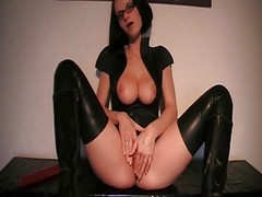 Anal, Latex, Blonde babe latex, Xhamster