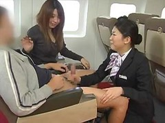 Asian, Handjob, Japanese, Stewardess, Amateur handjob, Drtuber