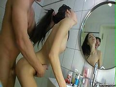 Bath, Bathroom, Couple, Asian in bathroom, Drtuber
